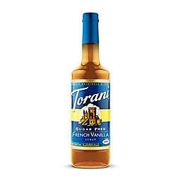 Torani 750 mL Sugar Free French Vanilla Syrup
