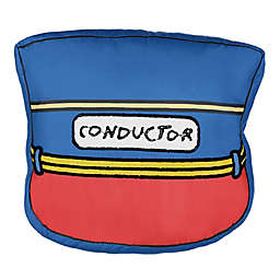 Waverly Kids All Aboard Conductor's Hat Embroidered Decorative Pillow