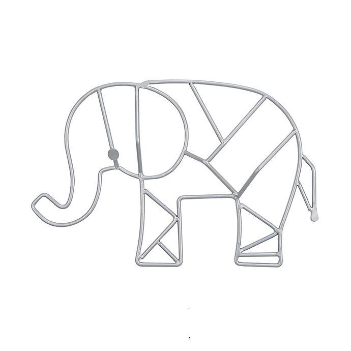 Alternate image 1 for Nojo® Elephant-Shaped Wire Nursery Wall Art in Grey