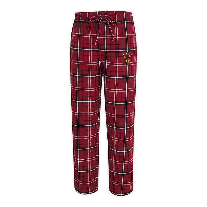 Alternate image 1 for Arizona State University Men's Flannel Plaid Pajama Pant with Left Leg Team Logo