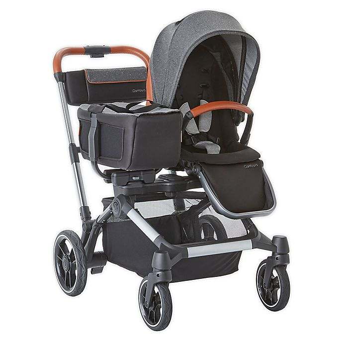 Alternate image 1 for Contours® Element Side-by-Side Single-to-Double Stroller in Storm Grey