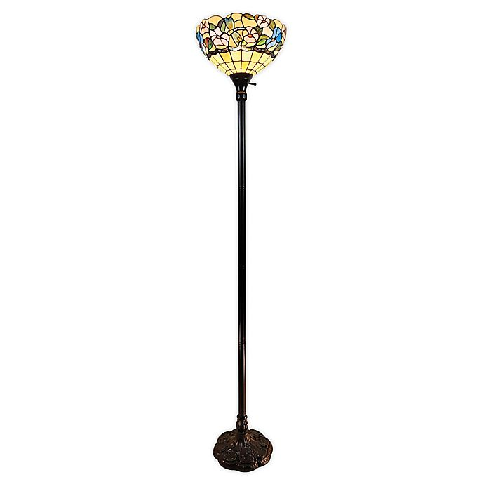 Alternate image 1 for Tiffany Style Hummingbirds Torchiere Floor Lamp