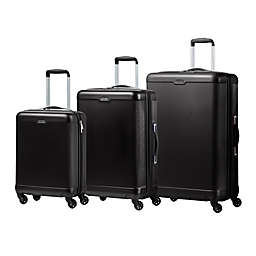 CHAMPS Aspire 3-Piece Hardside Spinner Luggage Set in Black