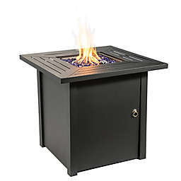 Peaktop 30-Inch Square Steel Propane Gas Fire Pit