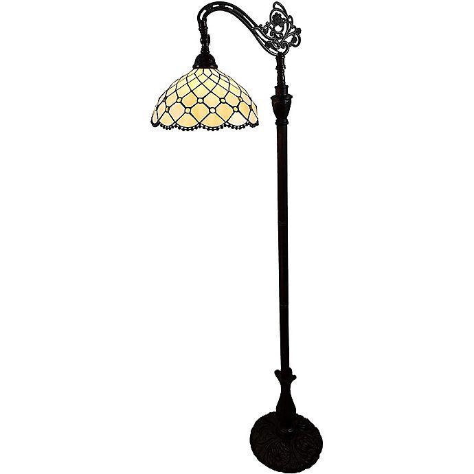 Alternate image 1 for Tiffany Style Jeweled Reading Floor Lamp