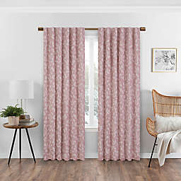 Eclipse Nora 95-Inch Rod Pocket/Back Tab 100% Blackout Window Curtain Panel in Rose (Single)