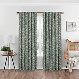 Eclipse Nora 95-Inch Rod Pocket/Back Tab 100% Blackout Window Curtain Panel in Sage