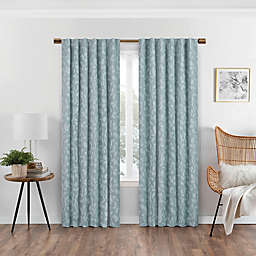 Eclipse Nora 63-Inch Rod Pocket/Back Tab 100% Blackout Window Curtain Panel in Spa