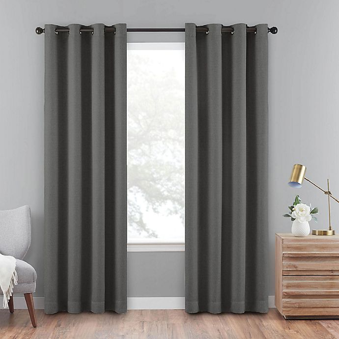 Alternate image 1 for Eclipse Cara 63-Inch Grommet 100% Blackout Window Curtain Panel in Charcoal