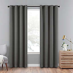 Eclipse Cara 63-Inch Grommet 100% Blackout Window Curtain Panel in Charcoal