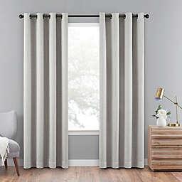Eclipse Cara 63-Inch Grommet 100% Blackout Window Curtain Panel in Grey (Single)