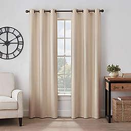 Eclipse Gabriella 63-Inch Grommet Blackout Window Curtain Panel in Linen