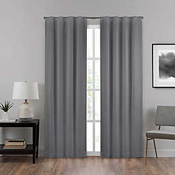 Eclipse Summit 108-Inch Rod Pocket 100% Blackout Window Curtain Panel in Charcoal