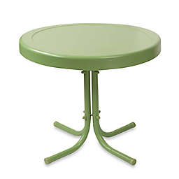 Crosley Outdoor Metal Side Table in Oasis Green