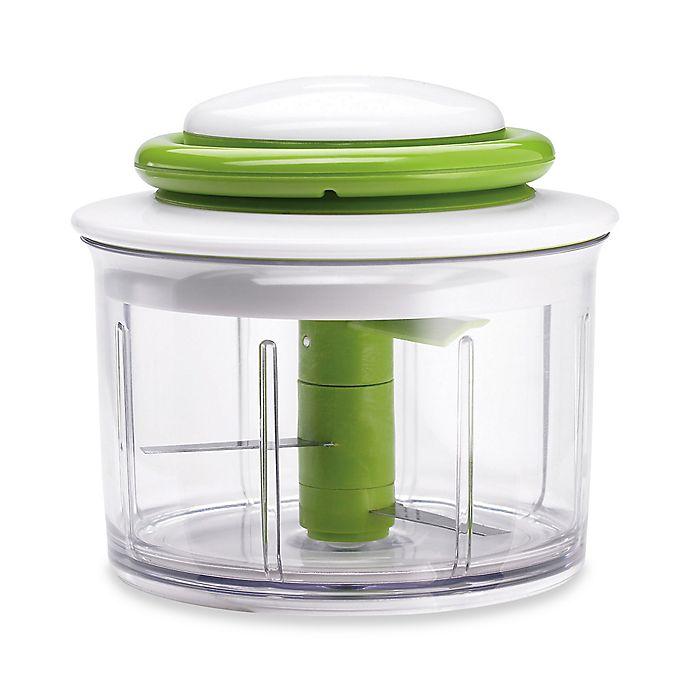 Alternate image 1 for Chef'n® VeggiChop Hand-Powered Food Chopper in Green
