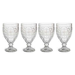 Fitz and Floyd® Trestle Goblets in Clear (Set of 4)