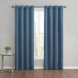 Kenneth Cole Gotham 95-Inch Grommet Room Darkening Window Curtain Panel in Azure (Single)