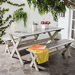 Safavieh Marina 3-Piece Outdoor Set in Grey
