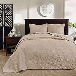 Madison Park Quebec 3-Piece Reversible King Bedspread Set in Khaki