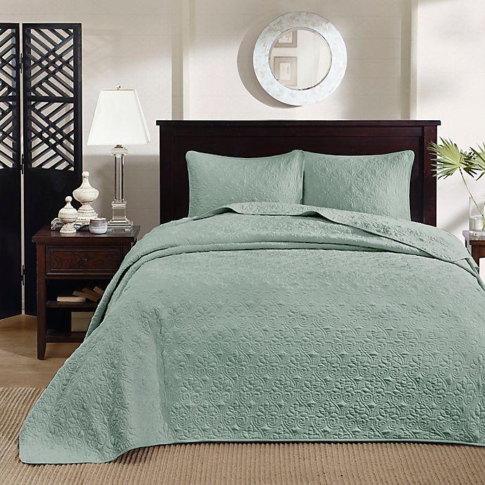 Alternate image 1 for Madison Park Quebec 3-Piece Reversible King Bedspread Set in Seafoam