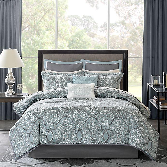 Alternate image 1 for Madison Park Lavine Comforter Set in Blue