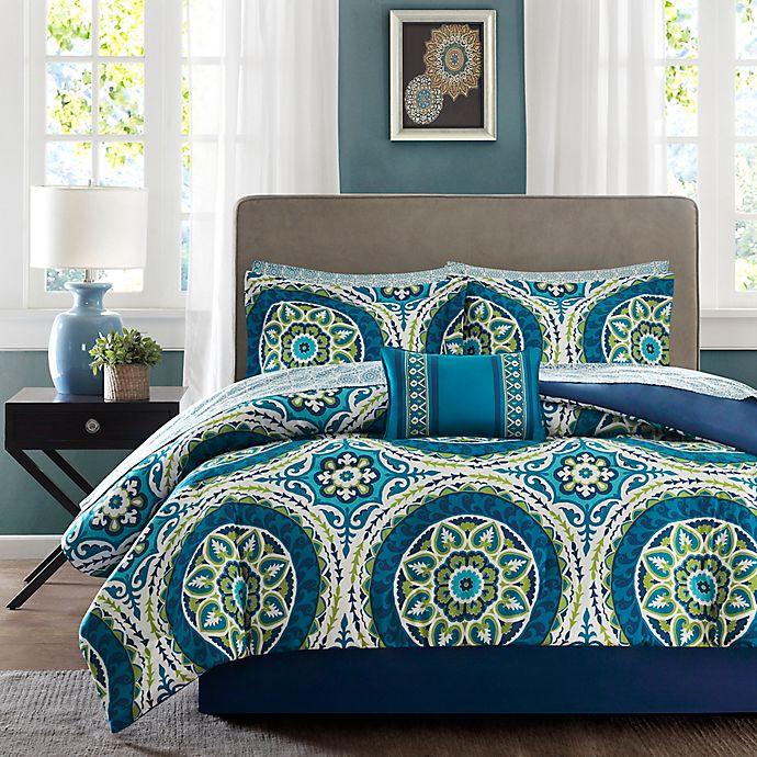 Alternate image 1 for Madison Park Essentials Serenity 9-Piece California King Comforter Set in Blue