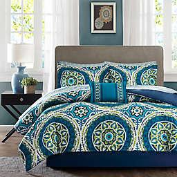 Madison Park Essentials Serenity 7-Piece Twin XL Comforter Set in Blue