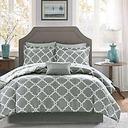 Madison Park Essentials Merritt 9-Piece Reversible Queen Comforter Set in Grey