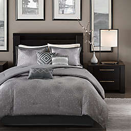 Madison Park Quinn 7-Piece Comforter Set in Grey