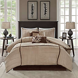 Madison Park Dune 7-Piece Comforter Set in Beige