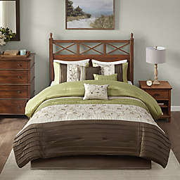 Madison Park Serene 7-Piece King Comforter Set in Green