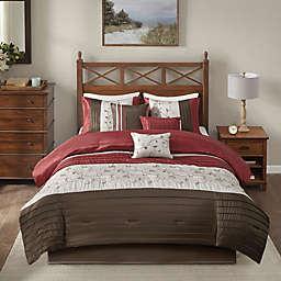 Madison Park Serene 7-Piece California King Comforter Set in Brick