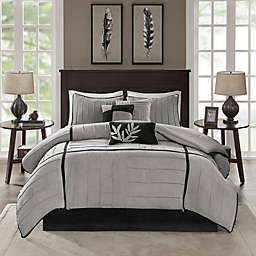 Madison Park Connell California King Comforter Set in Grey