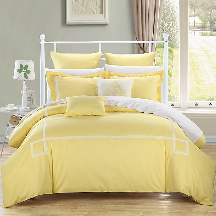Alternate image 1 for Chic Home Woodford Comforter Set in Yellow