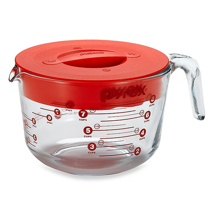 Alternate image 1 for Pyrex® 8-Cup Measuring Cup with Lid
