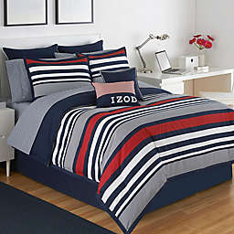 IZOD® Varsity Stripe Reversible California  King Comforter Set