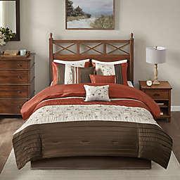 Madison Park Serene 7-Piece Queen Comforter Set in Spice