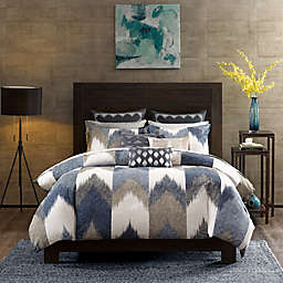 INK+IVY Alpine King/California King Duvet Cover Mini Set in Navy