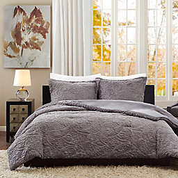 Madison Park Norfolk Twin/Twin XL Comforter Set in Grey