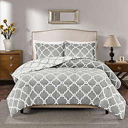 Plush Sleep Philosophy True North Reversible Full/Queen Comforter Set in Grey