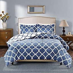 Plush Sleep Philosophy True North Reversible King Comforter Set in Indigo