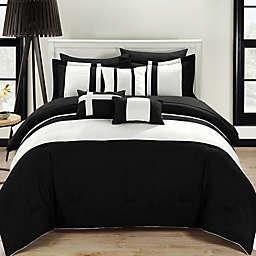 Chic Home Sheila 10-Piece Queen Comforter Set in Black