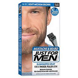 Just For Men® Mustache and Beard Brush-In Color Gel in Light-Medium Brown