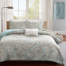 Madison Park Pure Ronan 4-Piece King/California King Coverlet Set in Blue