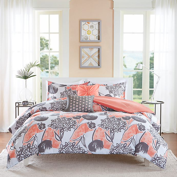 Alternate image 1 for Intelligent Design Marie 4-Piece Twin/Twin XL Comforter Set in Coral