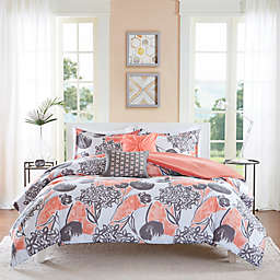 Intelligent Design Marie 4-Piece Twin/Twin XL Comforter Set in Coral