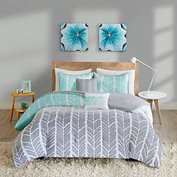 Intelligent Design Adel 4-Piece Twin/Twin XL Comforter Set in Aqua