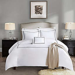 Madison Park Signature 1000-Thread-Count Embroidered King Duvet Cover Set in Black