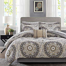 Madison Park Essentials Serenity 9-Piece Queen Comforter Set in Taupe