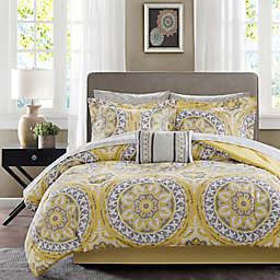 Madison Park Essentials Serenity 9-Piece King Comforter Set in Yellow